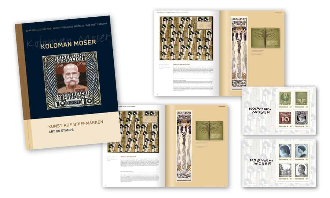 Markenbuch: Koloman Moser - Kunst auf Briefmarken