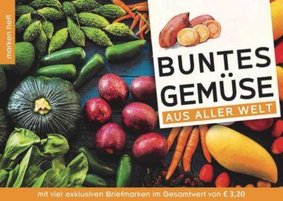 Markenheft: Buntes Gemüse aus aller Welt