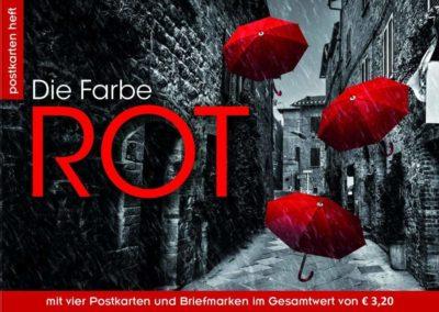 Postkartenheft: Die Farbe Rot