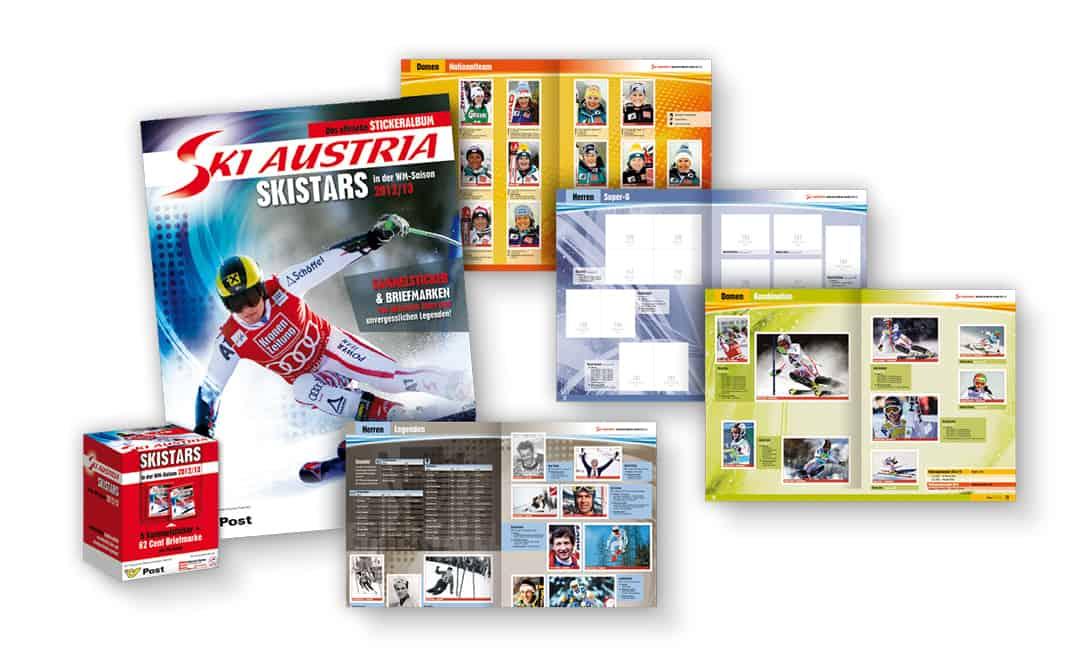 Stickeralbum: Ski Austria Skistars