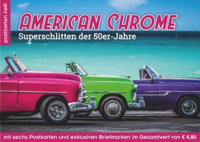 Postkartenheft: American Chrome