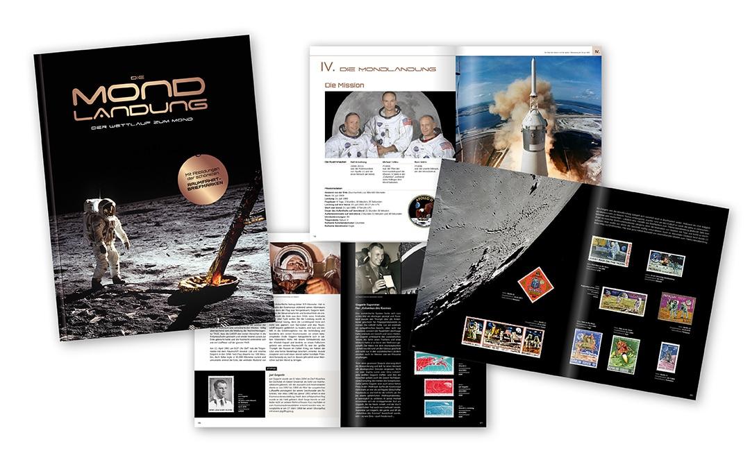 Markenbuch: Die Mondlandung - der Wettlauf zum Mond