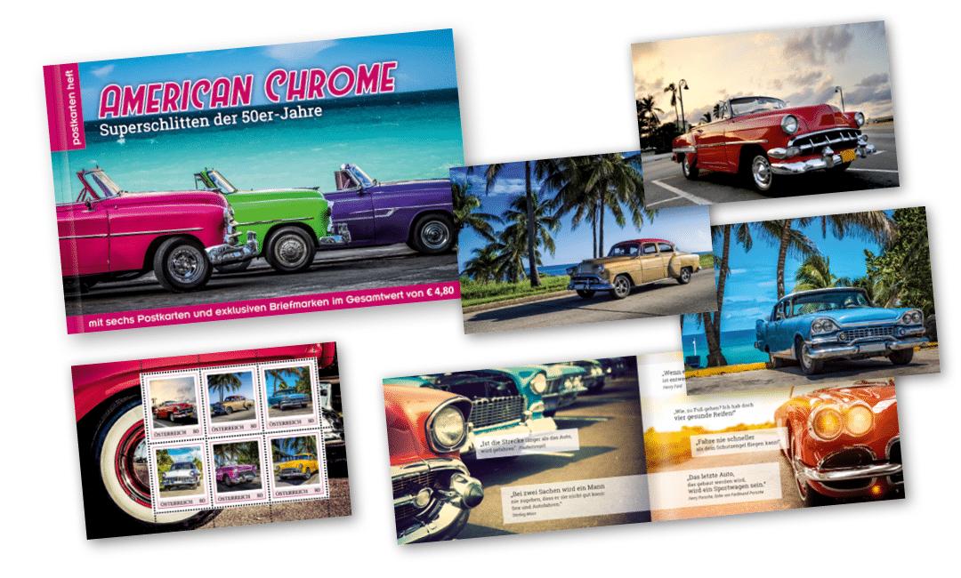 Postkartenheft: American Chrome